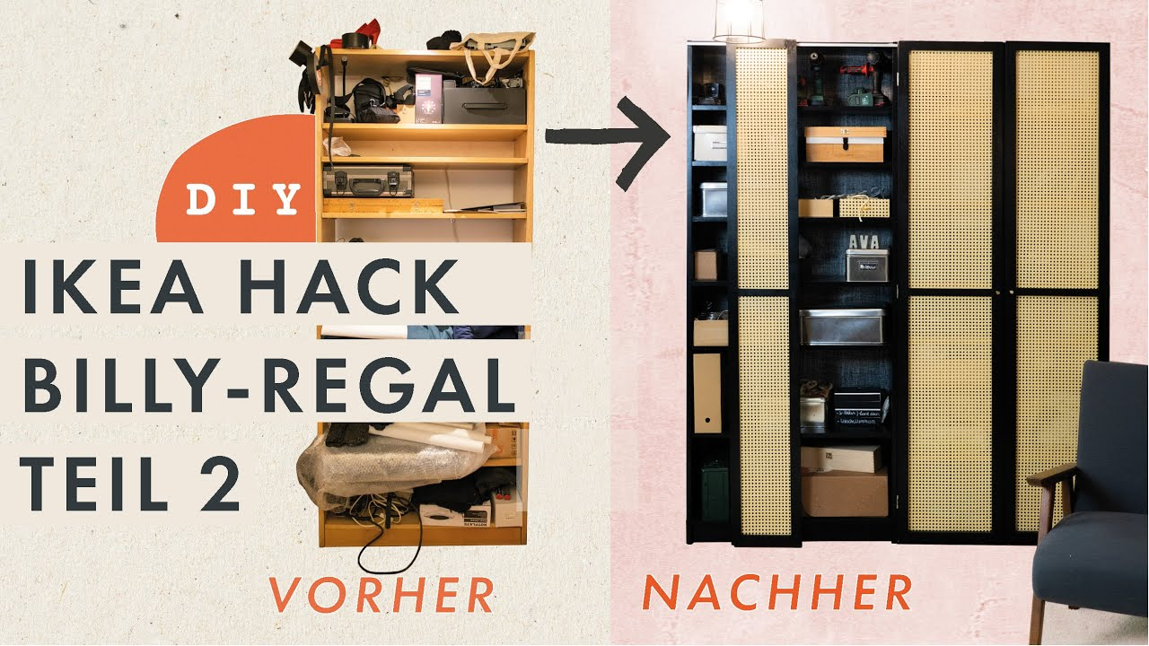 Ikea Hack Billy Regal Ii Regal Upcycling Zur Edlen Schrankwand