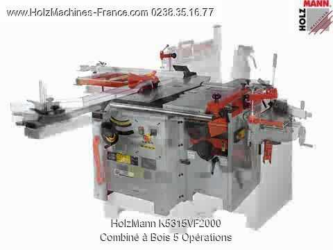 holzmann k5 315vf 2000 combin bois 5 op rations machine bois youtube. Black Bedroom Furniture Sets. Home Design Ideas