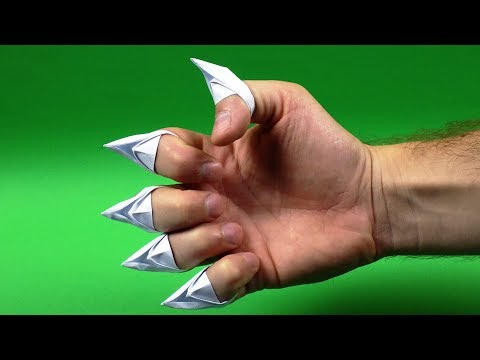 How To Make Origami Paper Claws EASY