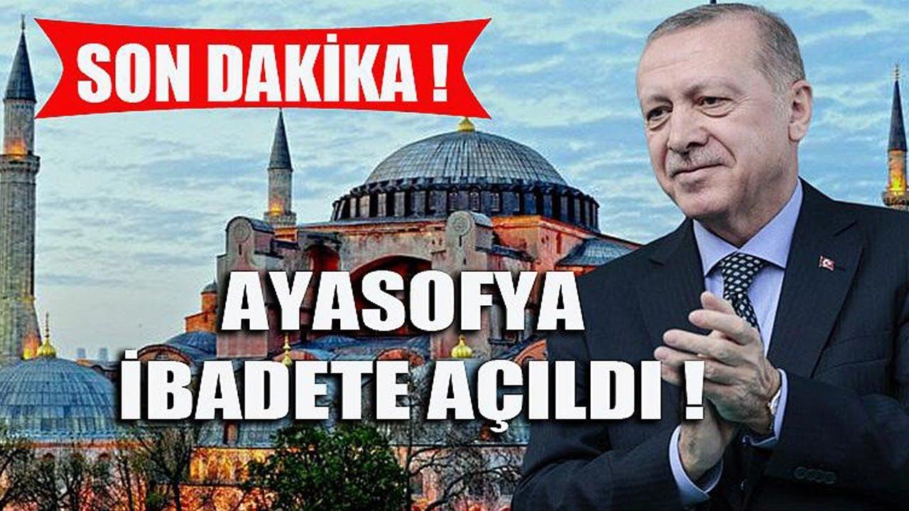Ayasofya Camii İbadete Açıldı! Cumhurbaşkanı Erdoğan'ın Konuşması (Canlı)