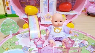 Baby doll slide and car toys Baby Doli play BooBoo