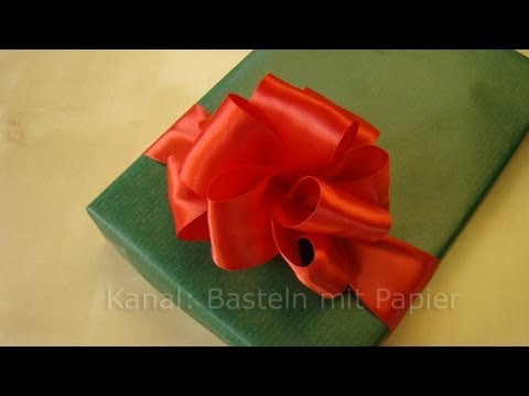 schleife binden anleitung f r geschenkschleife youtube. Black Bedroom Furniture Sets. Home Design Ideas