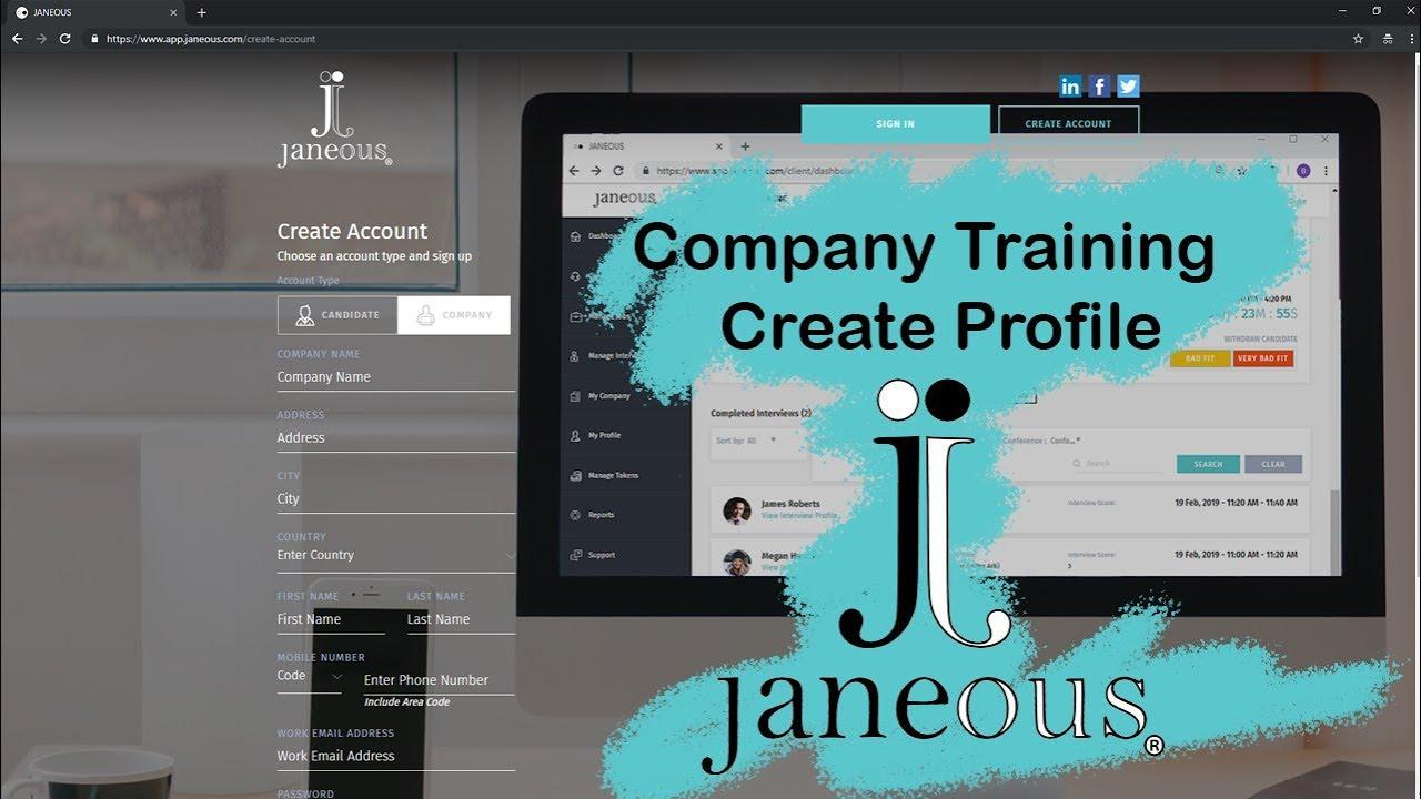 Janeous Client Profile Setup