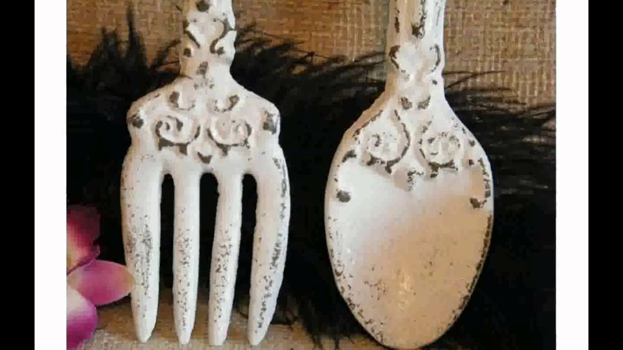 Spoon And Fork Wall Decor kitchen wall decor fork and spoon - youtube