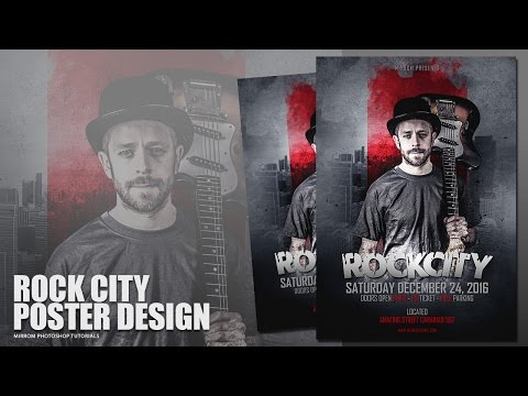 Making a Rock City Poster Design In Photoshop