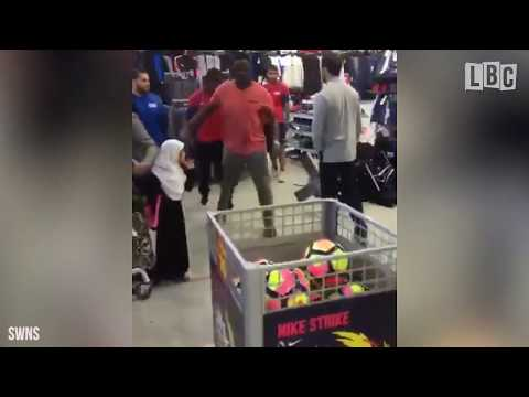 Raging Customer Loses It And Starts Wrecking Sports Direct Store