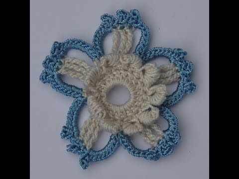 How to crochet a bullion stitch flower