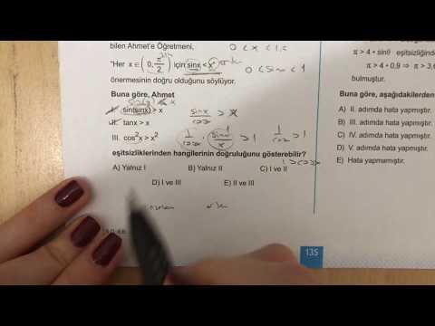 345 AYT Matematik Trigonometri-II Ösym Tadında-6 Anlatımlı Çözümleri (2018-2019 basım)