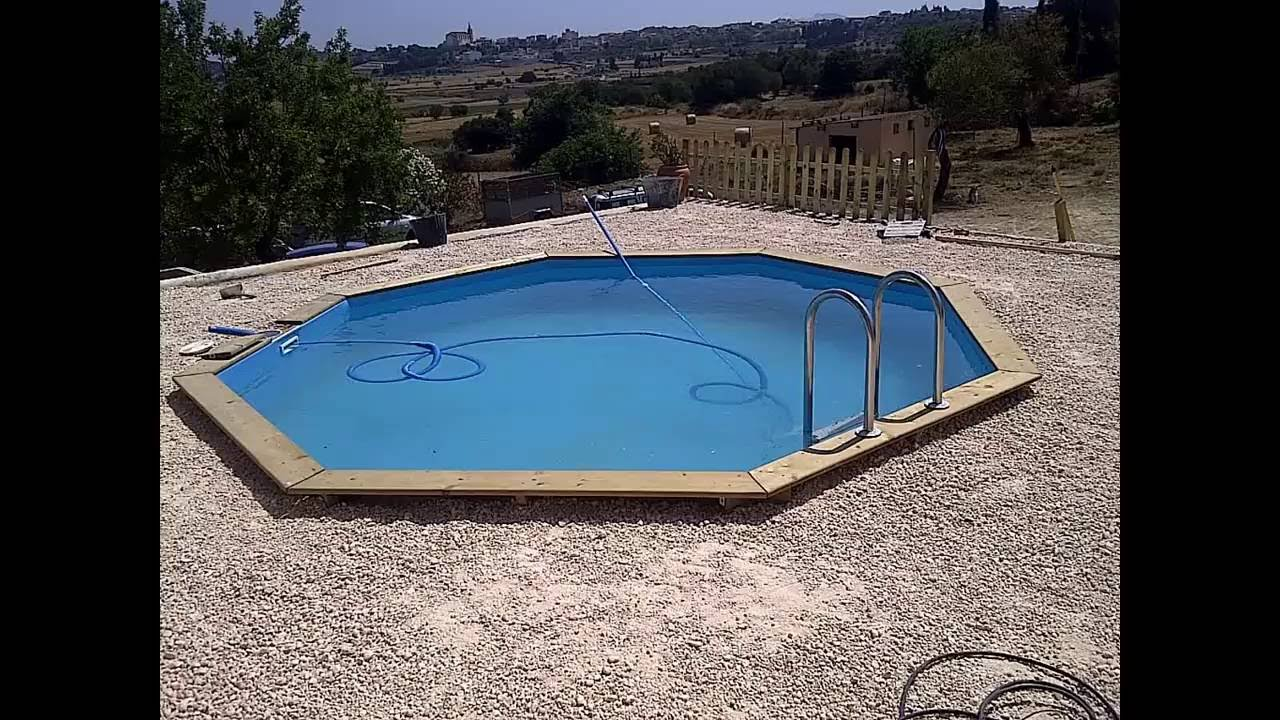 Instalascion piscina madera maciza enterrada fontyreg for Piscinas desmontables enterradas