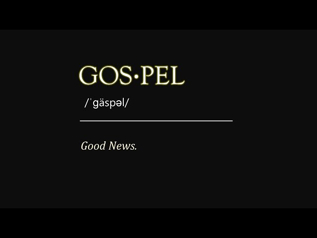 Sunday 7-4-2021: The Gospel