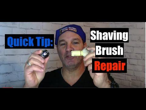 Shaving Brush Repair-Quick Fix And More