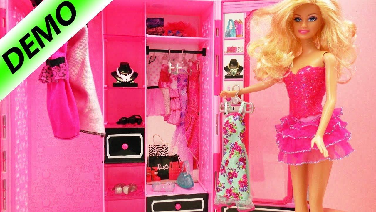 Armario de Barbie, con vestidos y accesorios - YouTube