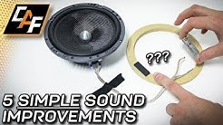 5 CHEAP Sound Improvements you can make NOW - Car Audio