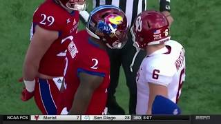 Kansas Players Refuse To Shake Oklahoma's Baker Mayfield's Hand Before Game, Mayfield Trolls Team thumbnail