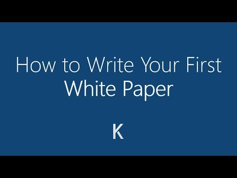 How to Write Your First White Paper