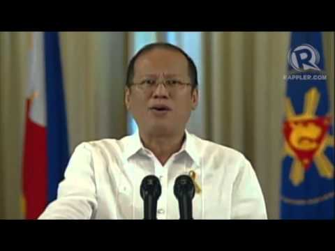 President Aquino on preliminary peace deal with MILF