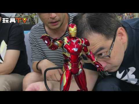 TOYSTV S3 EP1 P9「爆玩具」King Arts 1/9 Iron Man Mark I + Mark XLVI Diecast Figure Unbox