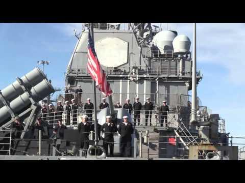 USS Anzio (CG 68) departs Naval Station Norfolk
