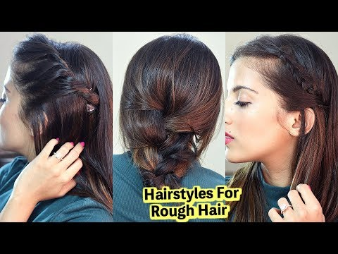 Medium Hairstyles For Dry Rough Hair / Quick & Easy Tips | Knot Me Pretty