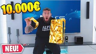 meine GOLDENE 10.000 EURO PLAYSTATION 5 ist da!