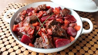 Borscht-braised Beef Short Ribs - Beef Short Ribs Braised With Beets