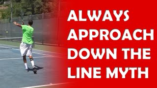 Always Approach Down The Line! | TENNIS MYTHS