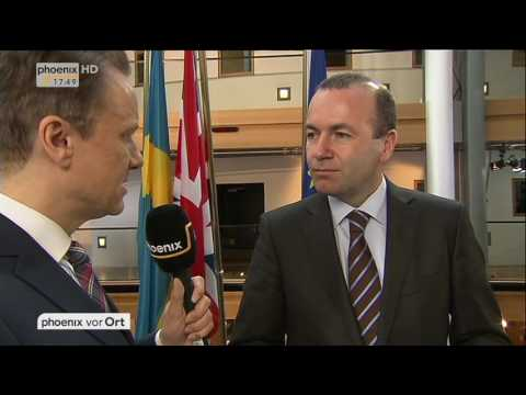 Plenarsitzung im EU-Parlament: Manfred Weber im Interview am 14.02.2017