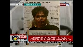 Suspek umano sa Davao City night market bombing noong 2016, naaresto na