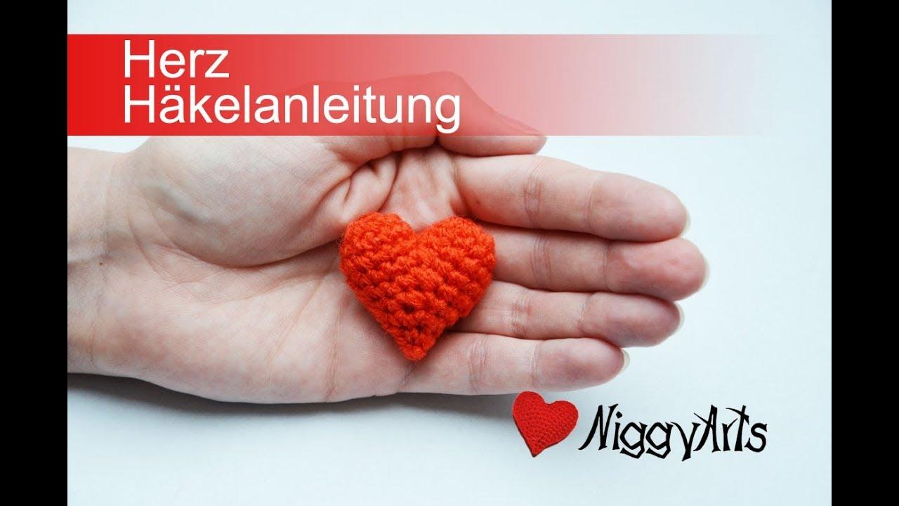 NiggyArts - Herz Häkelanleitung - YouTube