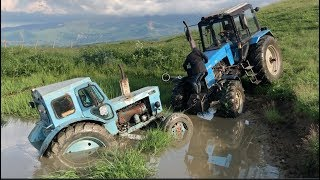 Tractor Belarus or T40 Tractor in the swamp water | Tuning What is Better?