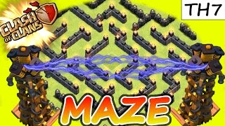 "Clash Of Clans | ""ULTIMATE TH7 MAZE BASE!"" 