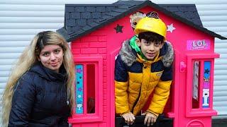 Jason Builder DIY builds a Pink House for Girl Costumer