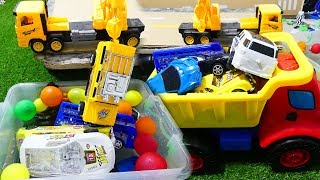 Cars For Kids  A Lot OF Toys Car Jump Into Water - Toys Kids Videos,