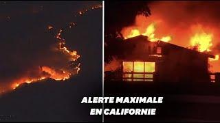 """Le """"Kincade Fire"""" ravage la Californie, 50.000 personnes évacuées"""