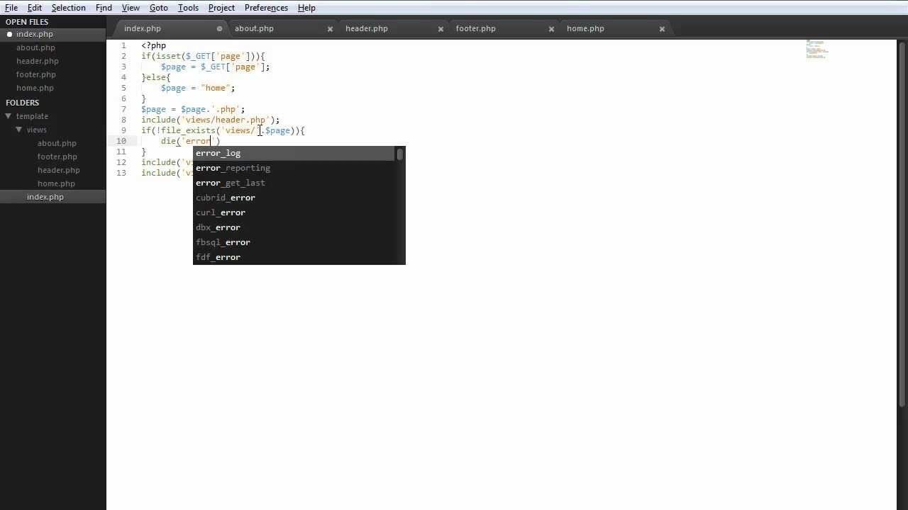 How To Create A Php Template System Youtube