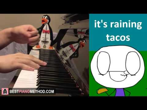It's Raining Tacos - Parry Gripp and BooneBum (Piano Cover by Amosdoll)