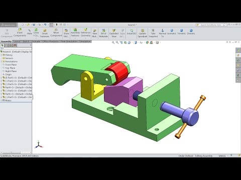 Design And Assembly of Clamp in SolidWorks | SolidWorks tutorial