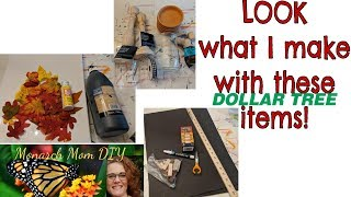 FALL FARMHOUSE HOME DECOR DIY DOLLAR TREE WALMART #farmhouse #falldecor #decordiy
