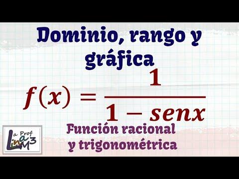 Dominio y rango de una función racional trigonométrica | La Prof Lina M3
