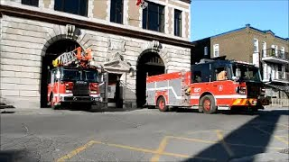 MONTREAL FIRE TRUCKS RESPONDING FROM STATION 27