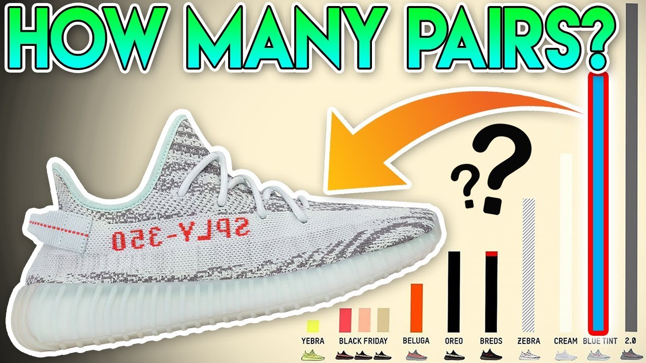 942029bf0f063 EVERYBODY CAN GET THIS KANYE WEST RELEASE! YEEZY BOOST 350 V2 BLUE TINT  STOCK NUMBERS! (CALCULATED!)