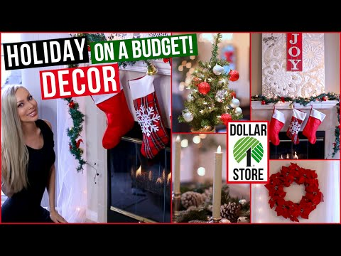 EASY and AFFORDABLE Holiday Decor ⭐ Dollar Store Decorating Ideas!