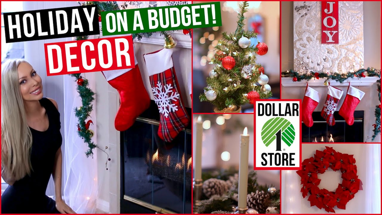 easy and affordable holiday decor dollar store decorating ideas youtube