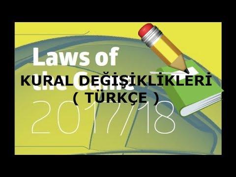 Futbol Oyun Kuralları Değişti !! ( 2017-2018 IFAB Oyun Kuralları Türkçe ) Part 1