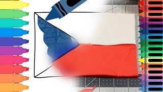How to Draw Czech Republic Flag - Play Doh Czech Flag - Coloring Pages for Kids | Tanimated Toys