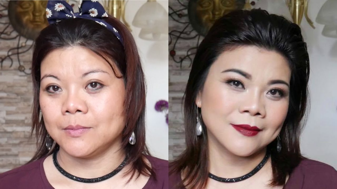 makeup on a client | how to apply makeup on mature skin (asians
