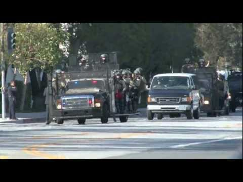 SWAT Team Takes Over Sony Pictures (Obama's Motorcade)