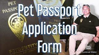 PET PASSPORT- Application Form
