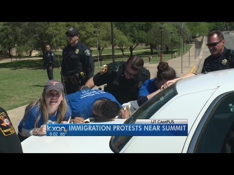 Protesters arrested for crossing into secure area