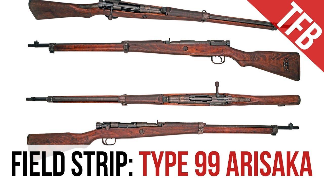 Japanese WWII Arisaka Type 99 Rifle Field Strip